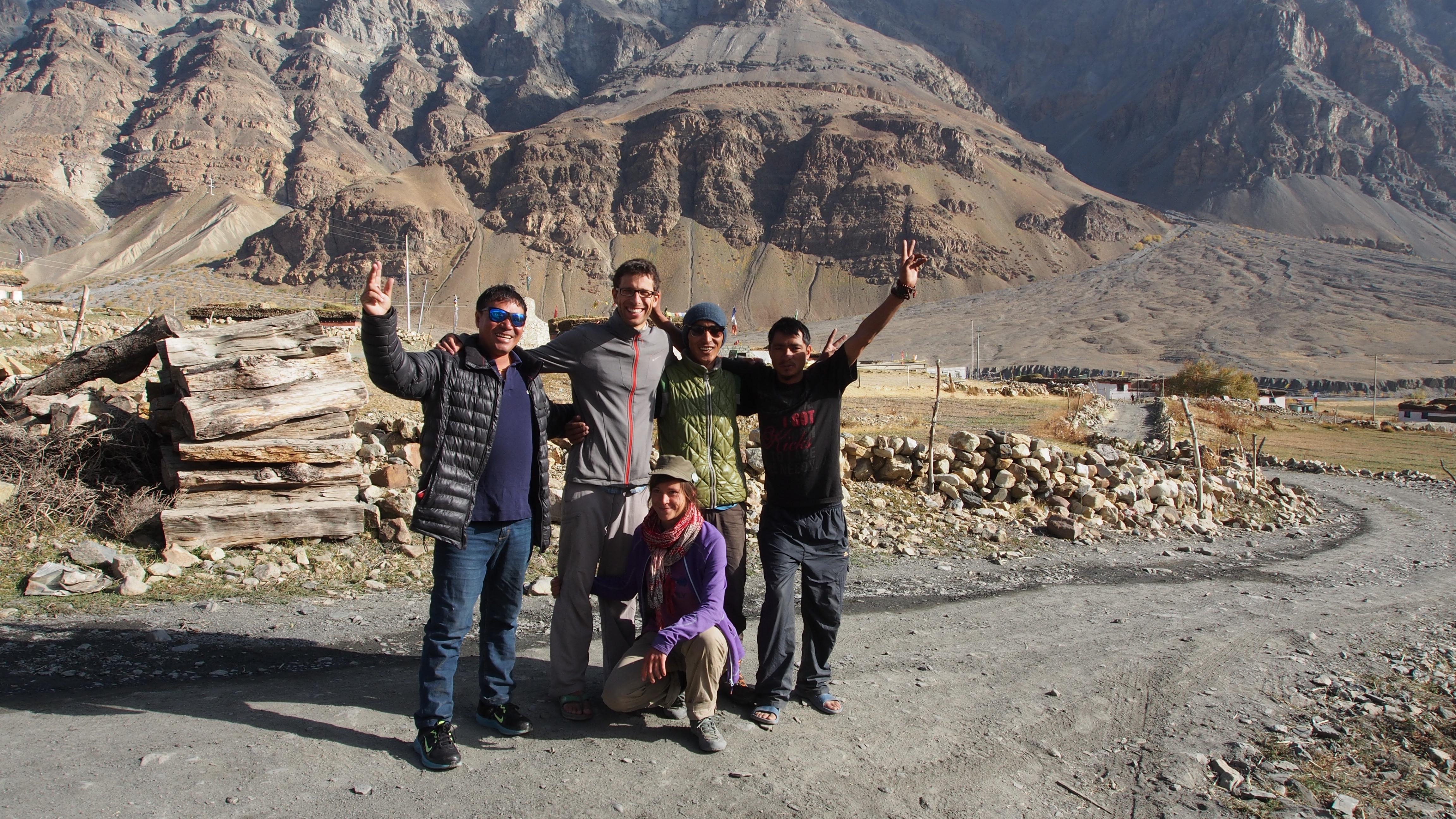 Notre super équipe de trek : RIgzin, Dorje, Lobsang